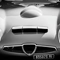 1964 Alfa Romeo Tz1 Grille -1494bw by Jill Reger