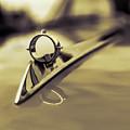 1964 Ford Galaxie 500 Xl Hood Ornament - Sepia by Jon Woodhams