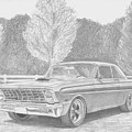 1965 Ford Falcon Classic Car Art Print by Stephen Rooks