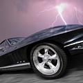 1966 Corvette Stingray With Lightning by Gill Billington