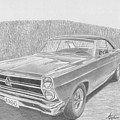 1966 Ford Fairlane Muscle Car Art Print by Stephen Rooks