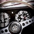 1966 Jaguar Xk-e Steering Wheel Emblem -2489ac by Jill Reger