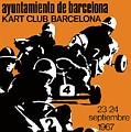 1967 Barcelona Kart Racing Poster by Retro Graphics