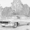 1967 Buick Wildcat Classic Car Art Print by Stephen Rooks