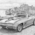 1967 Chevrolet Corvette 427 Convertible Sports Car Art Print by Stephen Rooks