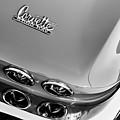 1967 Chevrolet Corvette Tail Light Emblem -0585bw by Jill Reger