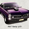 1967 Purple Pontiac Gto by Elaine Plesser