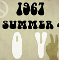 1967 Summer Of Love Newspaper by Mindy Sommers