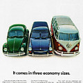 1967 Volkswagen Beetle Squareback And The Box by Digital Repro Depot