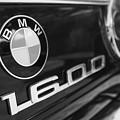1968 Bmw 1600 Cabriolet Tail Light Emblem -0154bw by Jill Reger