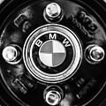 1968 Bmw 1600 Cabriolet Wheel Emblem -0140bw by Jill Reger