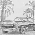 1968 Buick Skylark Gs Muscle Car Art Print by Stephen Rooks