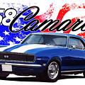1968 Camaro Stars And Stripes by Paul Kuras