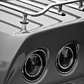 1968 Chevrolet Corvette Stingray Taillight -0230bw by Jill Reger