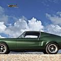 1968 Ford Bullitt Mustang Gt 390 Fastback, P-51 Mustang, Plymouth Rock Chicken by Thomas Pollart