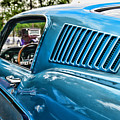 1968 Ford Mustang Fastback In Blue by Paul Ward