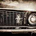1969 Ford Mustang Grille Emblem -0129s by Jill Reger