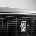 1969 Ford Mustang Grille Emblem -0133bw by Jill Reger