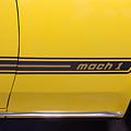 1969 Ford Mustang Mach 1 Logo by Robert Kinser