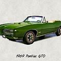 1969 Green Pontiac Gto Convertible by Elaine Plesser