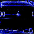 1969 Mustang In Neon 2 by Susan Bordelon