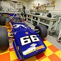 1969 Penske Indy Car In Garage by Steve Gass