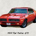 1969 Red Pontiac Gto The Judge by Elaine Plesser