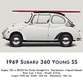 1969 Subaru 360 Young Ss - Creme by Ed Jackson