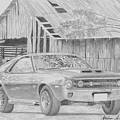 1970 Amx Javelin Muscle Car Art Print by Stephen Rooks