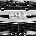 1970 Chevrolet Chevelle Ss Grille Emblem - Engine -0171bw by Jill Reger