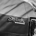 1971 Buick Skylark Rear Emblem -0133bw by Jill Reger
