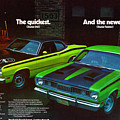 1971 Plymouth Duster 340 And Twister by Digital Repro Depot