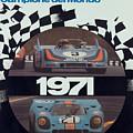 1971 Porsche World Champion Poster by Georgia Fowler