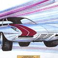 1972 Barracuda  Vintage Styling Design Concept Sketch by John Samsen