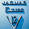 1972 Jaguar E-type V12 Roadster Emblem by Jill Reger