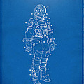 1973 Astronaut Space Suit Patent Artwork - Blueprint by Nikki Marie Smith