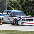 1973 Bmw Csl At Road America by Tad Gage