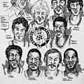 1981 Boston Celtics Championship Newspaper Poster by Dave Olsen
