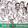 1986 Boston Celtics Championship Newspaper Poster by Dave Olsen