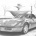 1989 Chevrolet Corvette Sports Car Art Print by Stephen Rooks