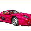 Ferrari F 512 M Russo 1995 by Jack Pumphrey