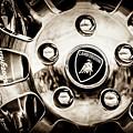 1997 Lamborghini Diablo Roadster  Wheel Emblem -1303s by Jill Reger