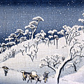 19th C. Snow On Asuka Hill by Historic Image