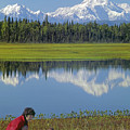 1m1326 Wife And Son In Denali National Park by Ed Cooper Photography