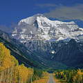1m2441-v Mt. Robson And Yellowhead Highway V by Ed Cooper Photography