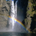 1m4716 Snoqualmie Falls And Rainbow by Ed Cooper Photography