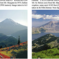 1m4903 And 1m4948 Mt. Saint Helens Before And After Wa by Ed Cooper Photography