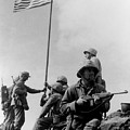 1st Flag Raising On Iwo Jima  by War Is Hell Store