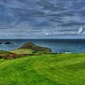 1st Green Cape Cornwall Golf Club by Chris Thaxter