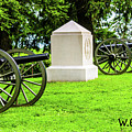 1st Mass Battery Gettysburg National Cemetery by William Rogers